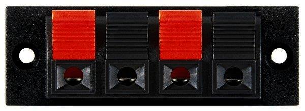 Lautsprecher-Terminal, 4 pol.Klemmleiste rot/schwarz Max. Kabeldurchmesser: 4mm