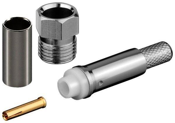 FME-Buchse Crimp für RG 58/U mit Gold Pin