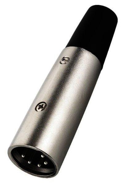 NC-705/P - XLR-Stecker, 5-polig, für Kabel Ø 7mm