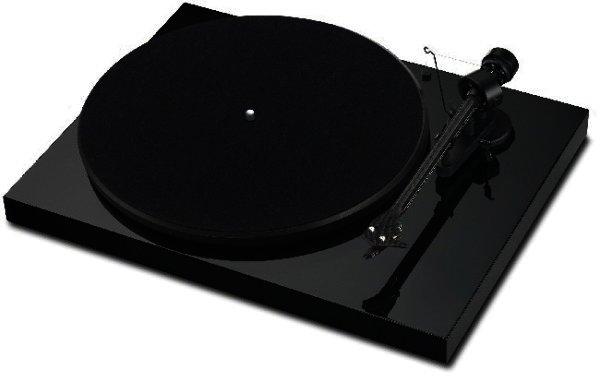 Debut Carbon Premium Plattenspieler in glänzend schwarz