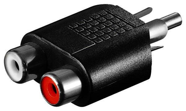 Audio-Adapter Cinchstecker > 2 x Cinchkupplung