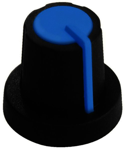 KN-11/BL Drehknopf Ø 11mm für Achsen Ø 6mm schwarz/blau