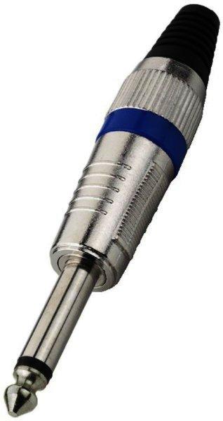 T-110/BL - 6,3mm Mono Klinkenstecker Kabeleinlass Ø 7mm