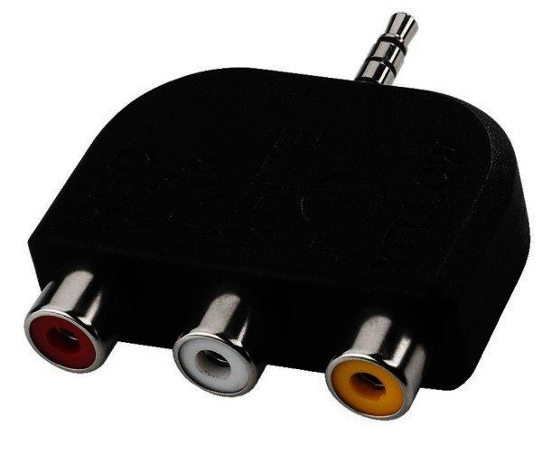nta 108 1 x 3 5 mm 4 pol klinke auf 3 x cinch kupplung. Black Bedroom Furniture Sets. Home Design Ideas