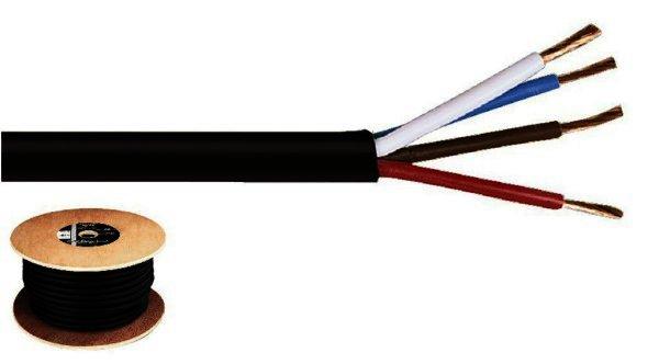 SPC-540/SW - Lautsprecherkabel 4x2,5mm² - 50 Meter