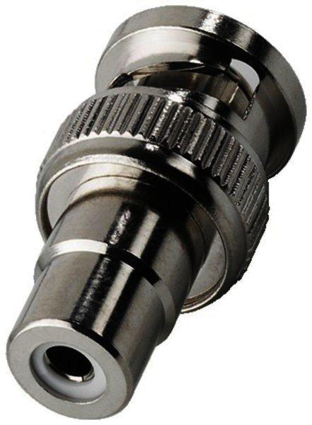 BNC-1523 Adapter BNC-Stecker auf Cinch-Buchse verchromt