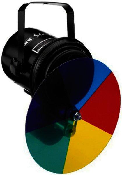 PAR-36W/SW Punktstrahler für Spiegelkugeln mit Farbrad