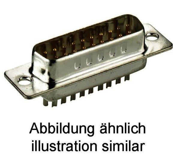 SUB-D-Standard Stiftleiste 15-polig Lötkelch