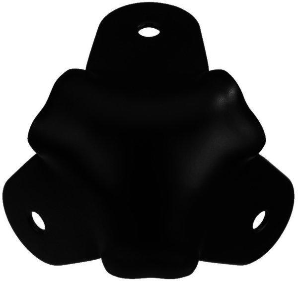 MZF-8514/SW Lautsprecher Metallecke, kugelform, schwarz