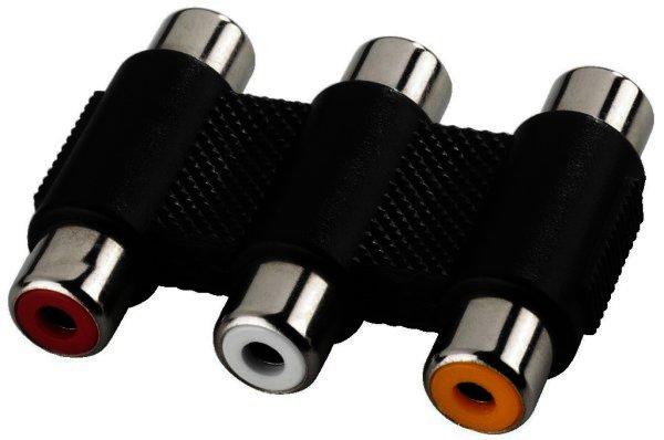 NTA-107 3 x Cinch-Kupplung auf 3 x Cinch-Kupplung