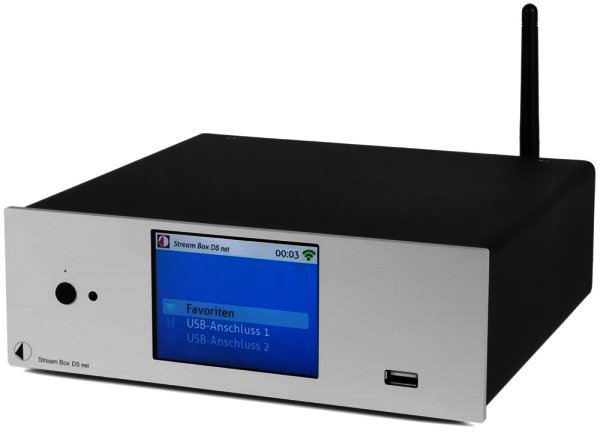 Pro-Ject Stream Box DS net - Streamer 24bit/192kHz Highend Audio über Wi-Fi, LAN und USB