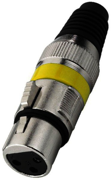 XLR-207J/GE - XLR-Armatur, 3-polig Buchse weiblich - Ge