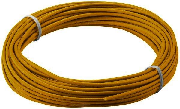 Kupferlitze isoliert, 10M, 1x0,14mm, gelb