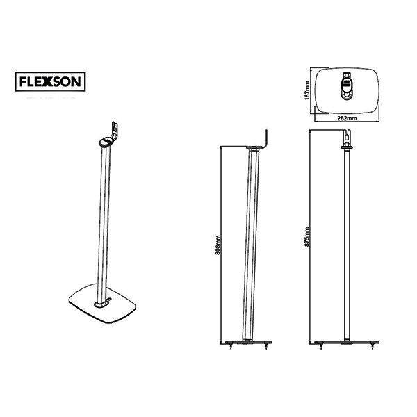 flexson sonos play 1 st nder lautsprecherst nder f r. Black Bedroom Furniture Sets. Home Design Ideas