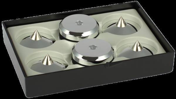 Audio Selection Spike und Disc 4er Set, klein - Lautsprecherspikes