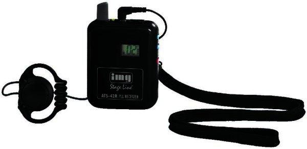ATS-42R - 40 Kanal Mono Sprachübertragungssystem - Tourguide - PLL Empfänger 863-865 MHz