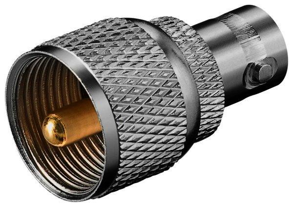 BNC-Kupplung > UHF-Stecker mit Goldkontakten