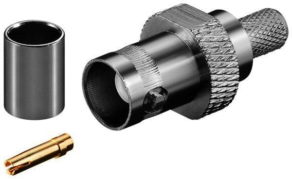 BNC-Crimpkupplung mit Gold Pin für RG 59/U Kabel