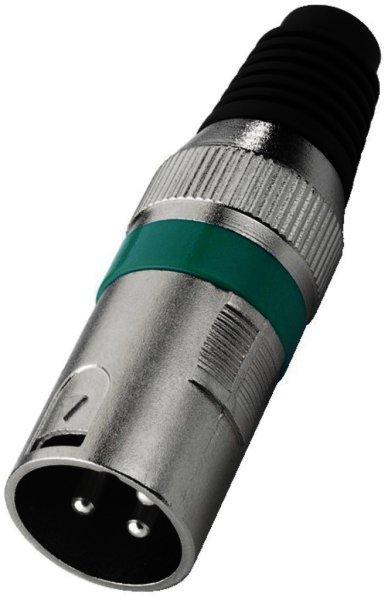 XLR-207P/GN - XLR Armatur, 3-polig Stecker männlich - G