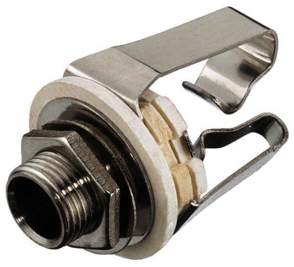 T-213J - 6,3mm Stereo Klinken-Einbaubuchse, Ø 9mm
