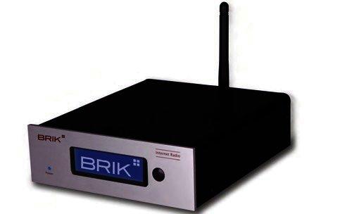 BRIK Internet Radio - UKW Radio / Mediaplayer LAN, W-LAN, UPnP - Silber