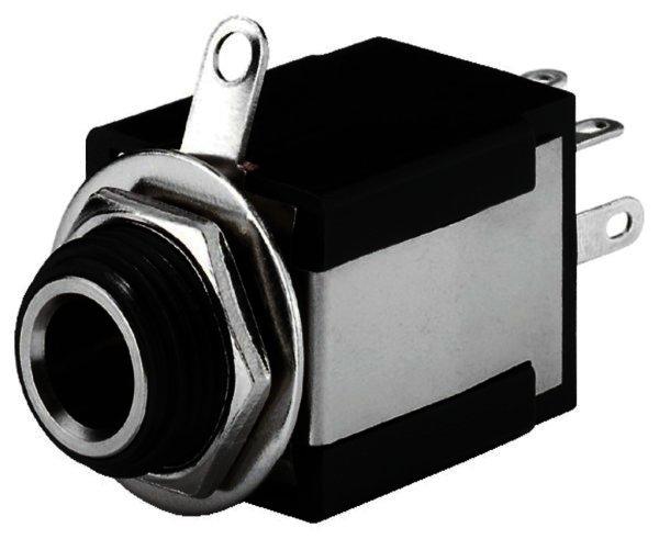 T-637SI - 6,3mm Stereo Klinken-Einbaubuchse