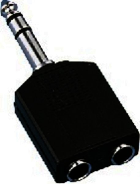 NTA-198 6,3mm-Stereo-Stecker 2x6,3mm-Stereo-Kupplung