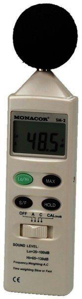 SM-2 Schallpegel-Messgerät Messbereich 35-130dB, 0,1dB