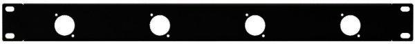 RCP-8730U - Rackblende, 1HE Ausstanzungen 4 x D-Serie