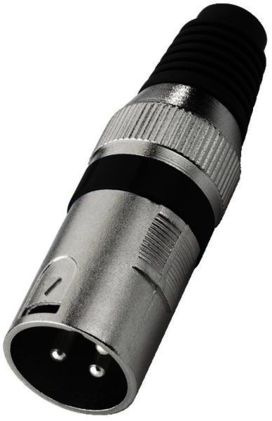 XLR-207P/SW - XLR-Armatur, 3-polig Spannzangen Zugentla