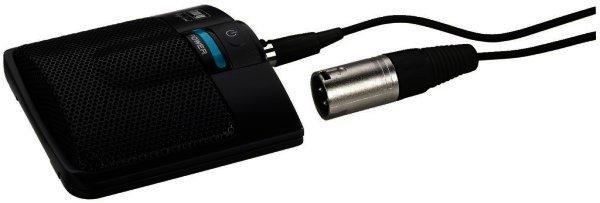 ECM-306B/SW Grenzflächen-Mikrofon mit 6 Meter Anschlusskabel 3 Pol-Mini-XLR/XLR