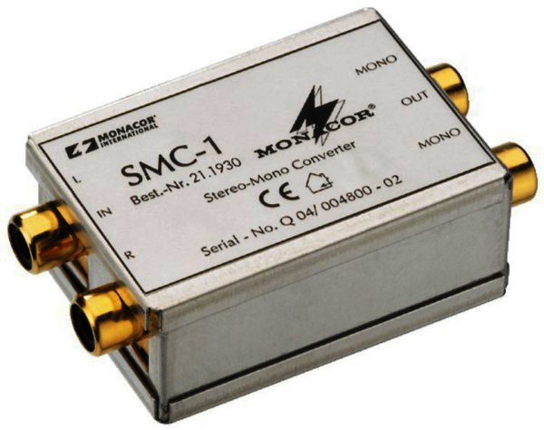 SMC-1 - Stereo/Mono-Konverter 1 x Stereo auf 2 x Mono