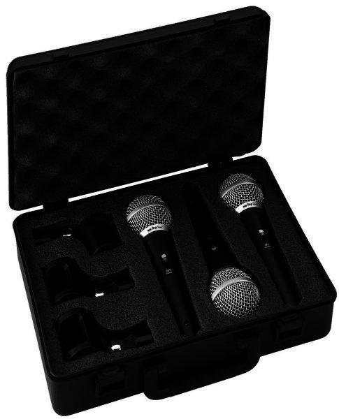 DM-3SET - Dynamisches Vocal Mikrofon Set - 3 Stück