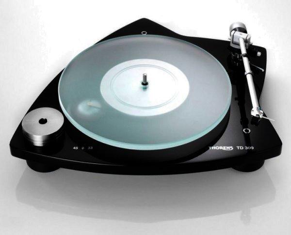 Thorens TD 309 - manueller Plattenspieler - Hochglanz schwarz