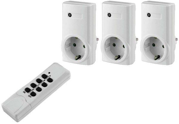 RCS-1000N - Funk-Schalt-Steckdosen-Set, 3er Set