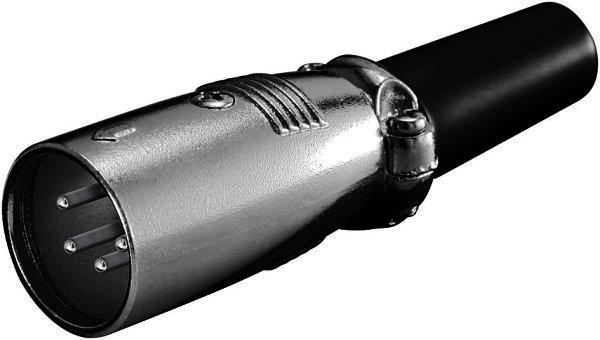 Mikrofonstecker, 4-polig geschraubte Zugentlastung
