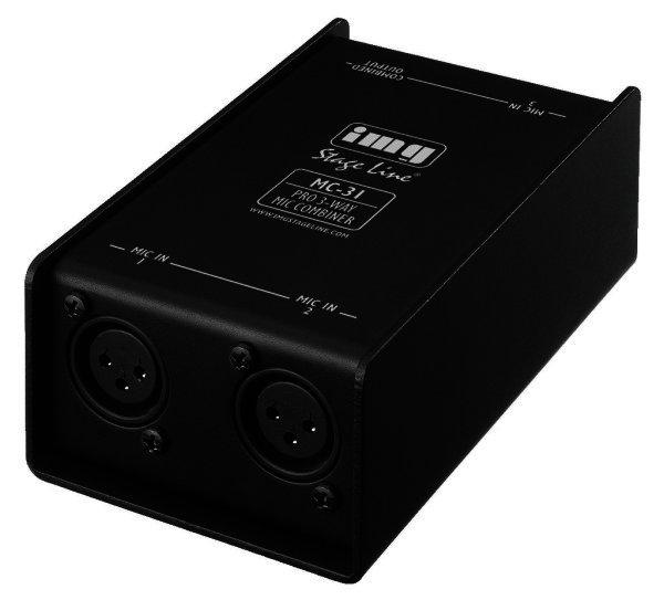 MC-31 3-fach-Mikrofon-Combiner 3 Eingänge/1 Ausgang XLR