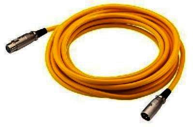 MEC-100/GE - XLR-Kabel - DMX / Mikrofon - 1,0m gelb