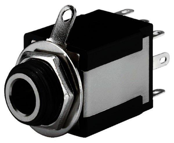 T-638JSI - 6,3mm Stereo Klinken-Einbaubuchse