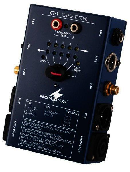 Kabeltester 6,3mm Klinke 5-Pol-DIN Cinch XLR asym./sym.