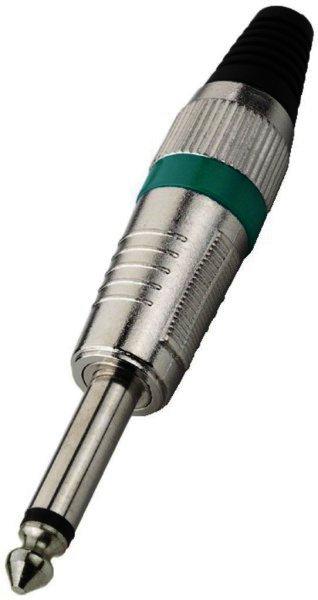 T-110/GN - 6,3mm Mono Klinkenstecker Kabeleinlass Ø 7mm