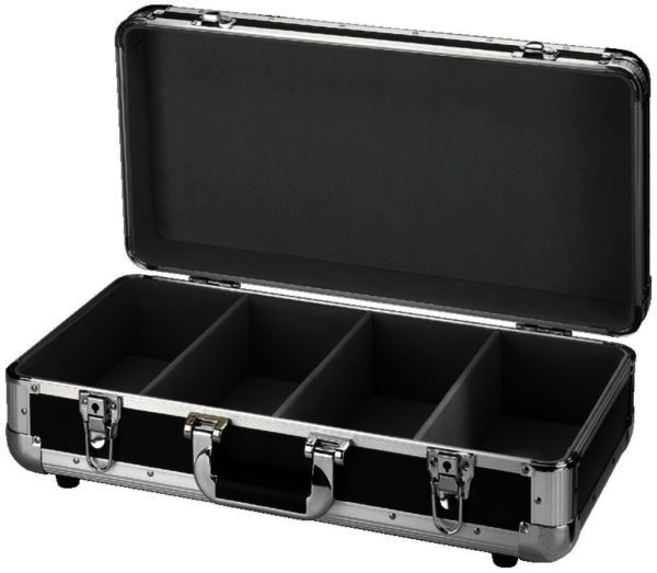 DJC-10/SW CD Case Transportbox Koffer 4 Fächer 100 CD´s
