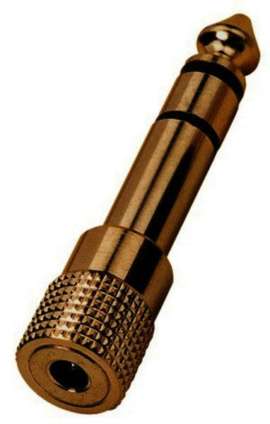 HA-37G - 6,3mm Stereo Klinkenstecker auf 3,5mm Kupplung