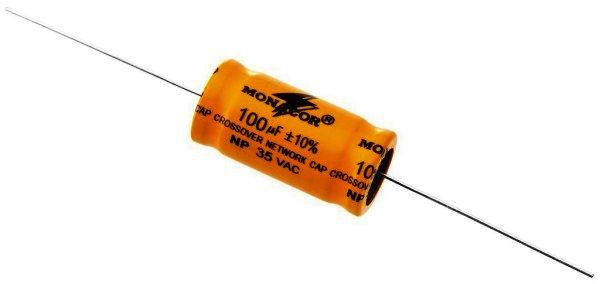 Bipolarer Elektrolytkondensator 100µF, RM 35mm, 2 Stück