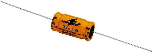 Bipolarer Elektrolytkondensator 33µF, RM 30mm, 4 Stück