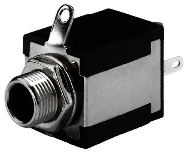 T-635S - 6,3mm Mono Klinken-Einbaubuchse