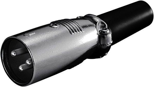 Mikrofonstecker , 3-polig geschraubte Zugentlastung