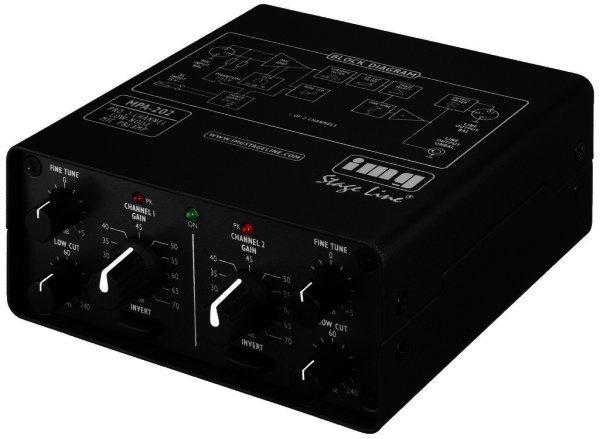 MPA-202 - 2-Kanal Mikrofon Vorverstärker XLR, sym