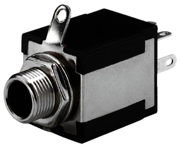 T-637S - 6,3mm Stereo Klinken-Einbaubuchse