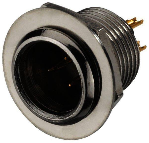 XLR-308/P - Miniatur-XLR-Einbauarmatur, 3-polig Metalla